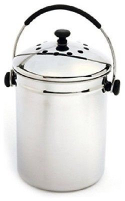 Stainless Steel Kitchen Compost Bin With Charcoal Filter Asian Compost Bins