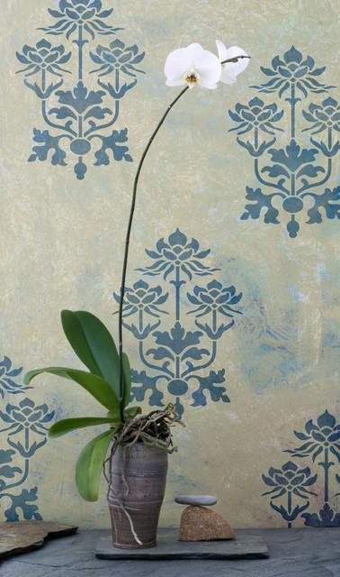 Kamal lotus flower indian furniture stencil by royal design studio kamal lotus flower indian furniture stencil by royal design studio mightylinksfo