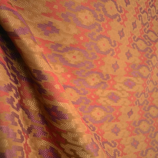 Southwest Upholstery Fabric Purple Red Gold, Sample