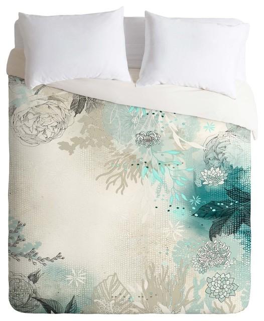 deny designs iveta abolina seafoam duvet cover lightweight