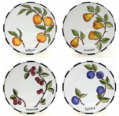 Toscana Four Season Wall Plates Set of 4 10D.  sc 1 st  Houzz & Toscana Four Season Wall Plates Set of 4 10D. - Mediterranean ...