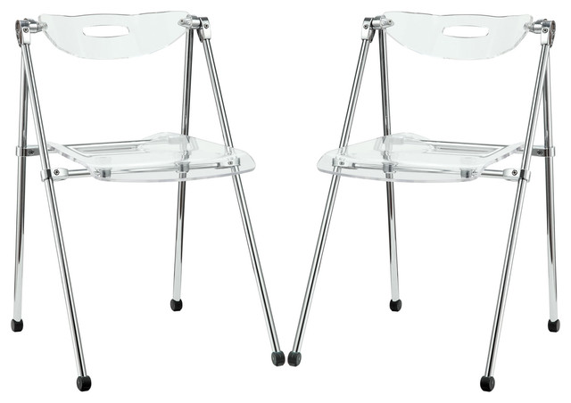 Telescope Dining Chairs Acrylic Set Of 2 Clear