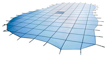 Blue Wave 18ft X 36ft Ces 15yr Ultra Solid - Blue.