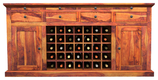 ... Solid Wood Wine Bar Buffet Cabinet traditional-buffets-and-sideboards