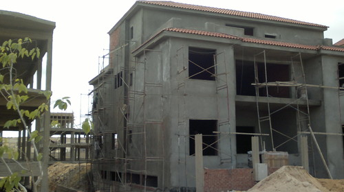 Front side of the villa