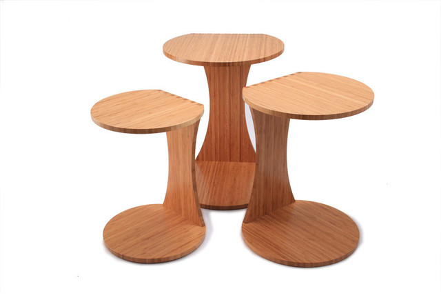 Double O Nesting Tables, Set Of 3, Caramelized.