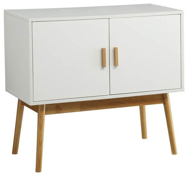 storage console table white finish