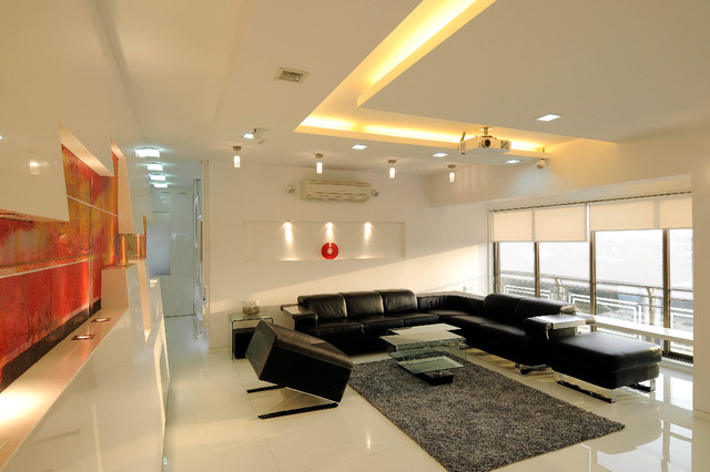 high end living room. High end residential project at Vileparle East  modern