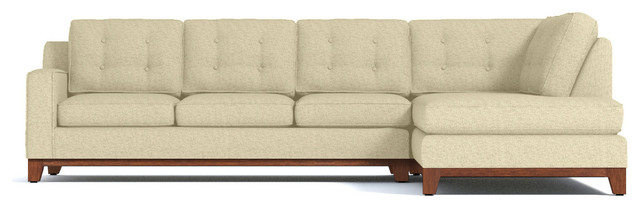Brentwood 2-Piece Sectional Sleeper Sofa, Bisque, Chaise on Left