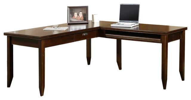 Tribeca Loft Black L-Shaped Writing Desk.