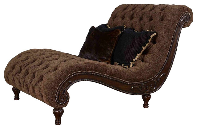 Art furniture accents cheetah chaise traditional for Accent chaise lounge
