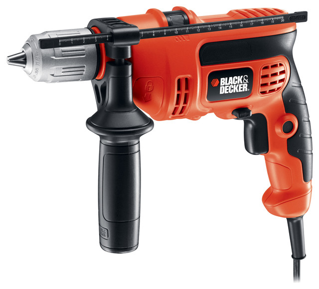 "Black And Decker Dr670 6.5 Amp 1/2"" Corded Vsr Hammer Drill."