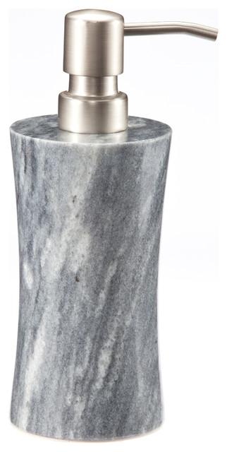Vinca Collection Cloud Gray Marble Soap Dispenser Modern