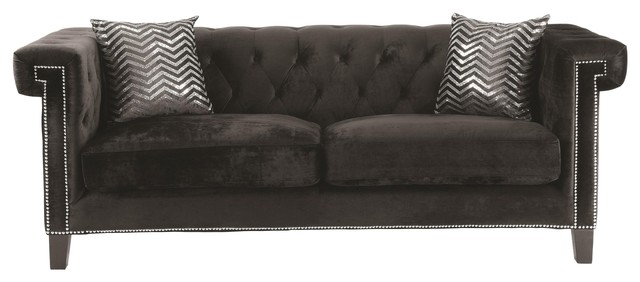 Reventlow Sofa With Greek Key Nailhead Trim Design