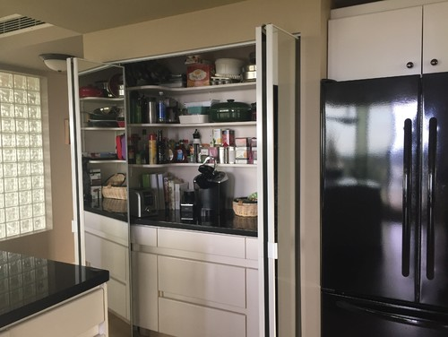 Mirror Bifold Doors what to do-mirror small pantry glass bi-fold doors to make current?