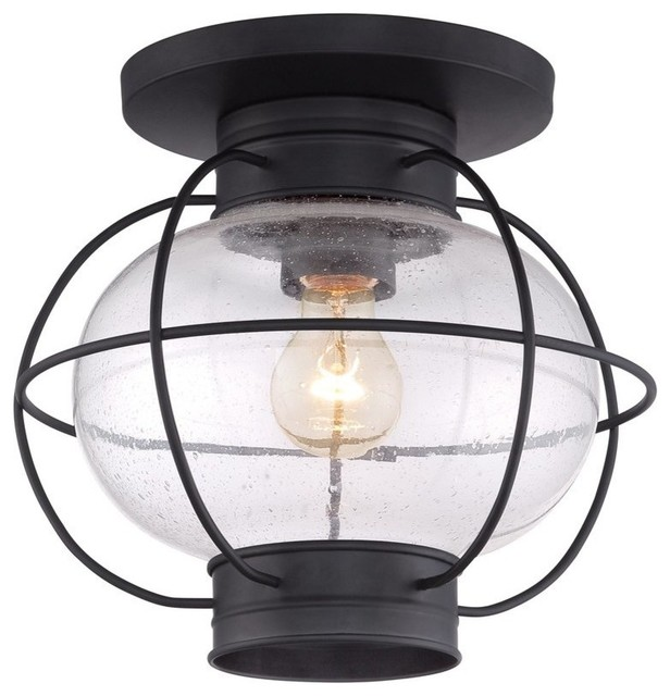 Emory 1-Light Semi-Flush Mount.