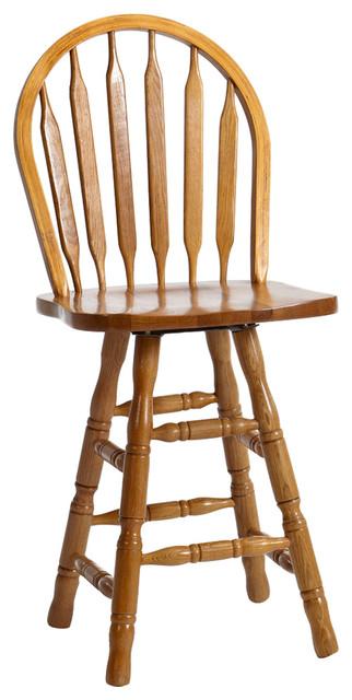Intercon Furniture Clic Oak 24 Arrow Back Barstools With Swivel Set Of 2