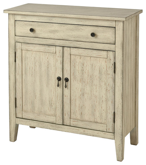 Stein World Transitional Holt Distressed Cream Cabinet 16940