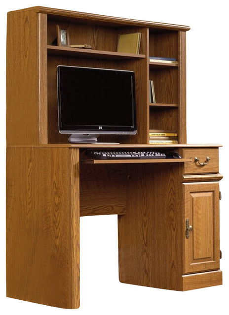Sauder Orchard Hills Small Wood Computer Desk with Hutch in