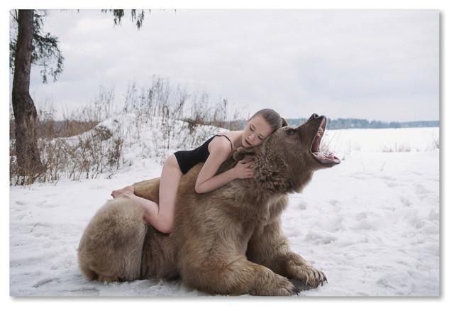 Bear Hug Canvas Art Print