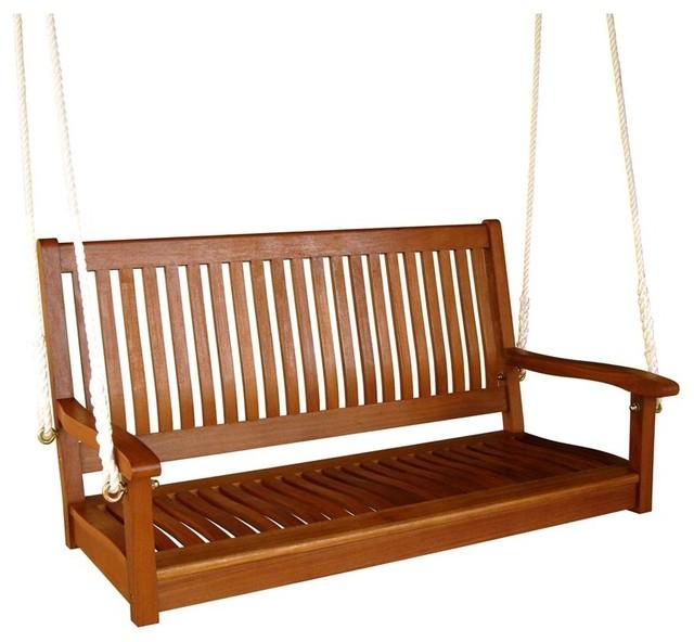 International Caravan Outdoor 48 Quot Two Seater Wood Swing