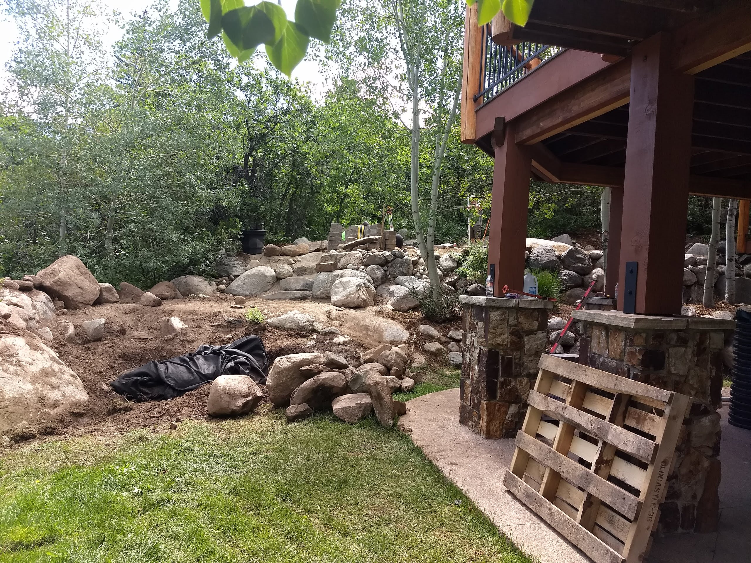 Creating a Large Dry Creek Feature and Brand New Landscaping