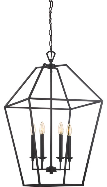 Aviary 6-Light Lantern Pendant Lighting, Palladian Bronze.