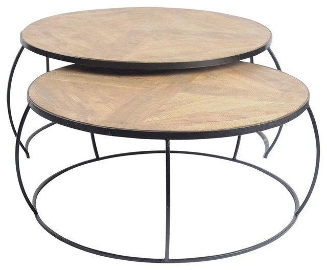 Round Coffee Table Set Of 2 4