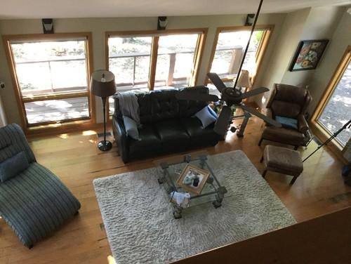 Privacy For 2nd Floor Loft Windows Overlooking Living Room