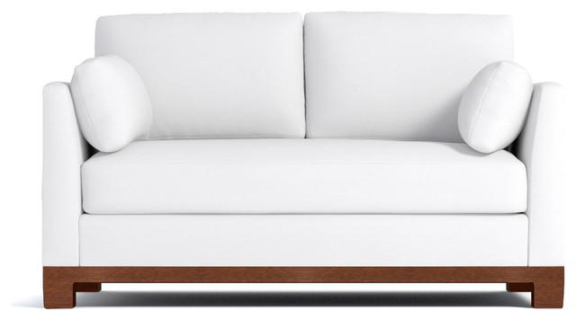 """Avalon Apartment-Sized Sofa, White, 57""""x37""""x30"""""""