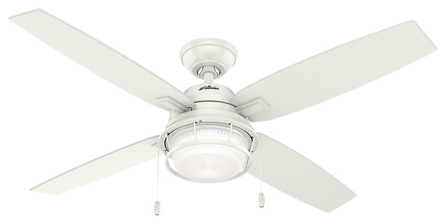 Ocala Fresh White Ceiling Fan With Light, 52.