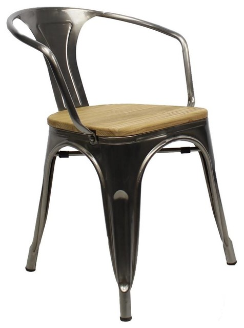 Cafe Bistro Armchair, Metal