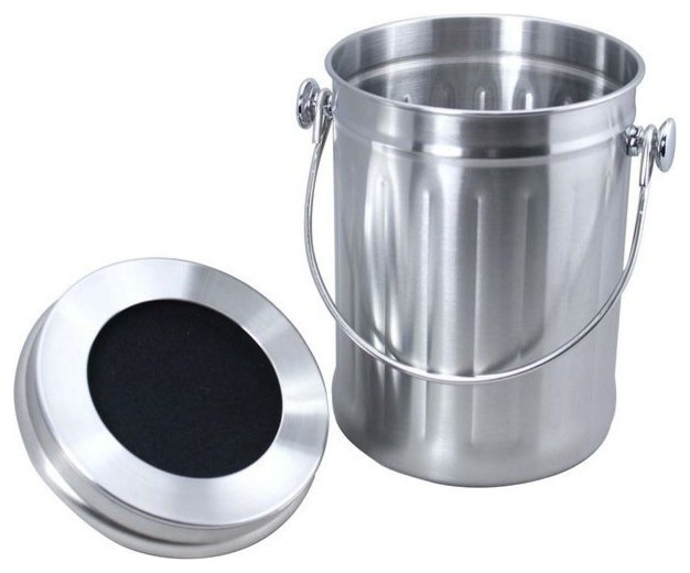Large Size Stainless Steel Compost Pail Compost Bins