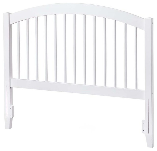 Atlantic Furniture Windsor Full Spindle Headboard, White.