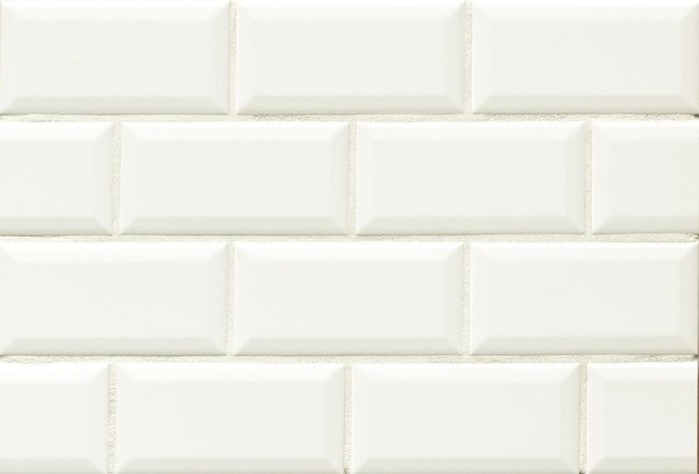 Traditions 3 X6 Beveled Gloss Subway Tile Ice White