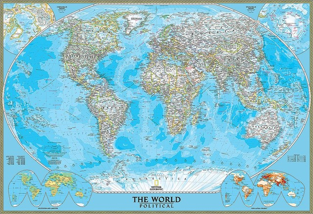 Magic murals political world map wall mural self for Executive world map wall mural