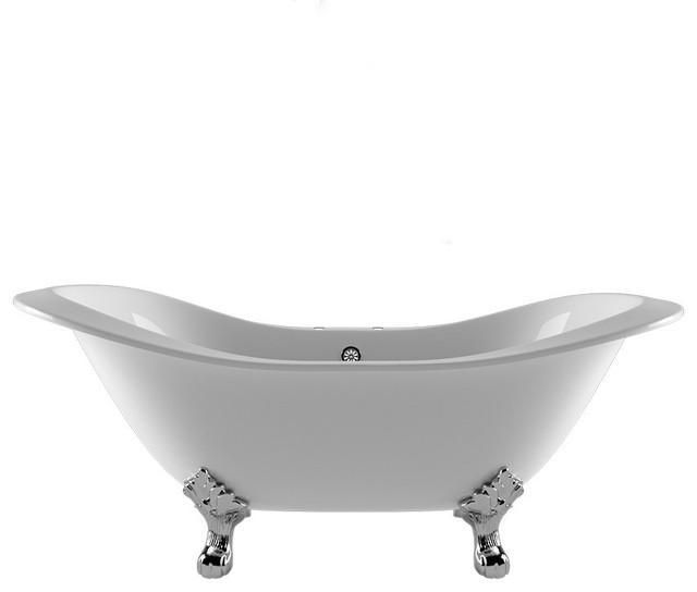 71 Double Ended Slipper Tub 7 Faucet Holes Buchanan