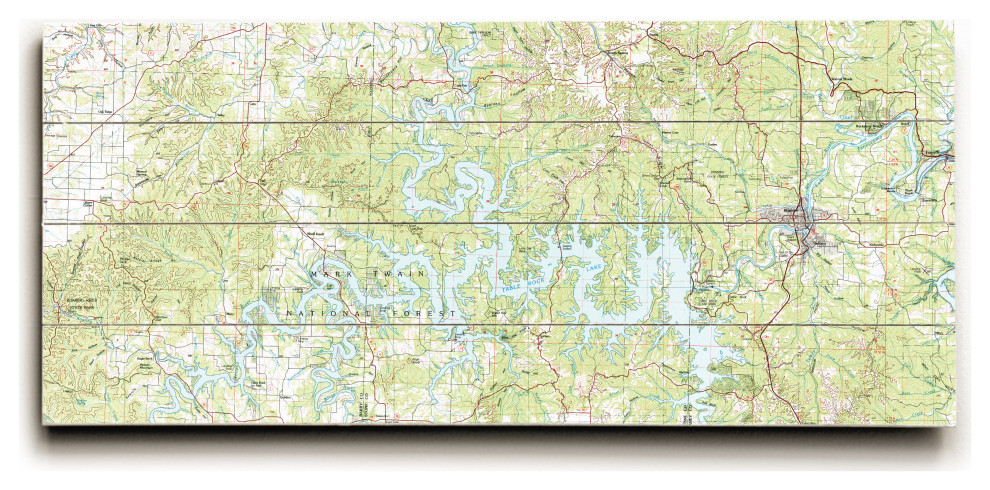 Table Rock Lake Mo 1985 Topo Map Contemporary Prints And Posters By Island Girl Home Inc