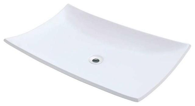 P063v Porcelain Vessel Sink, White, No Drain.