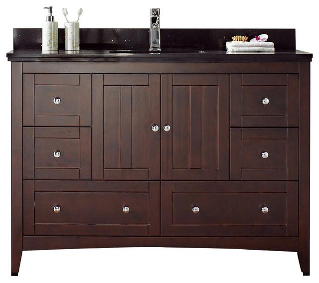 Modern Plywood Veneer Vanity Base Only 47 5 X18 Transitional Bathroom Vanities And Sink
