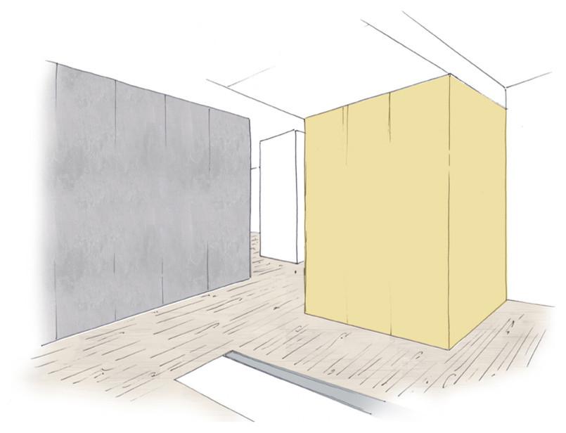 Boceto de Volumen Gris 01 y Volúmen Amarillo 02