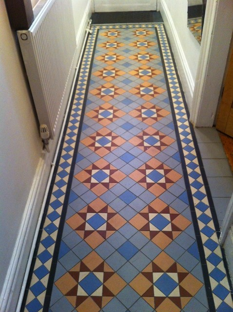 Hallway Renovation Victorian Floor Tiles Traditional