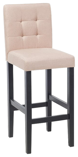 Madison Upholstered Kitchen Stool Transitional Bar Stools And By Beliani