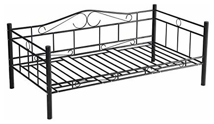 Solid Metal Frame Twin Size Daybed Sofa Bed by Unbranded