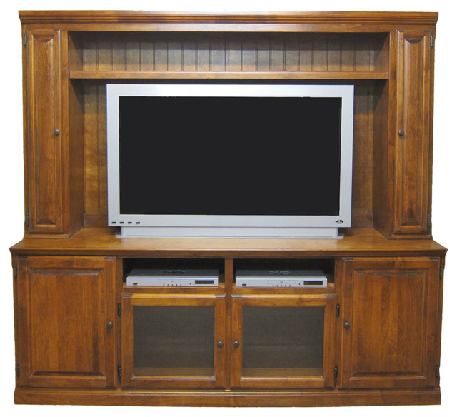 Traditional Hutch With Doors Traditional Entertainment Centers