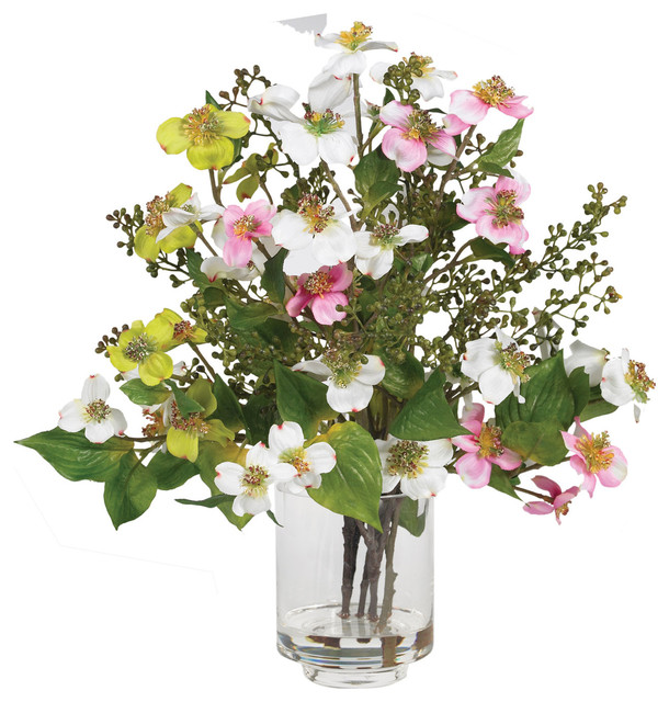 Dogwood silk flower arrangement contemporary artificial flower dogwood silk flower arrangement mightylinksfo
