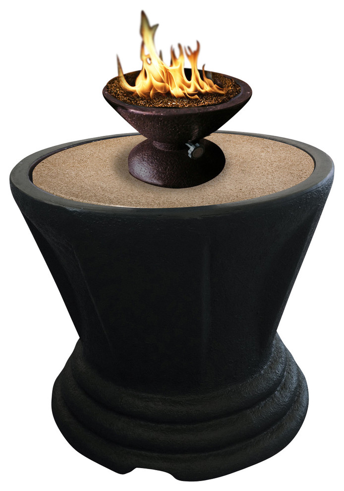 Sculptured Bistro Gas/Propane Fire Pit Table - Fire Pits ...