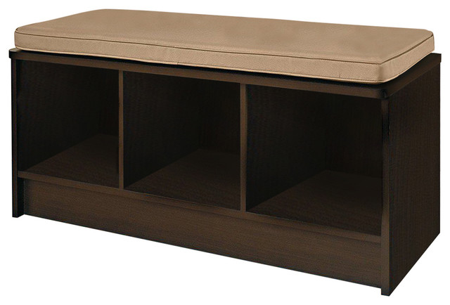 Fabulous Cubeicals 3 Cube Storage Bench Espresso Short Links Chair Design For Home Short Linksinfo
