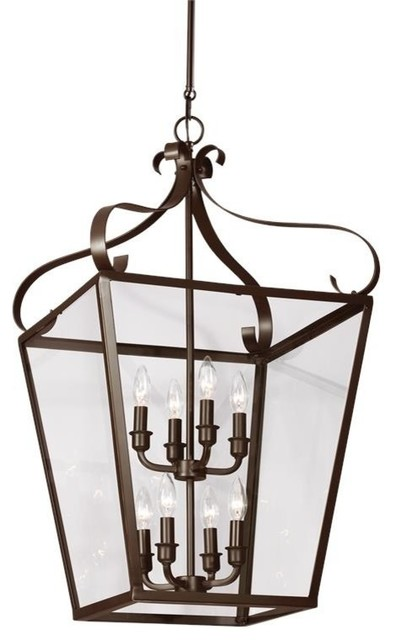 Lockheart 8-Light Hall/foyer, Heirloom Bronze.