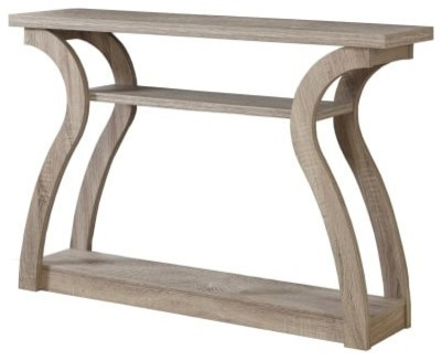 """Monarch Specialties I 2446 47"""" Wide Wood Hall Console Table, Dark Taupe."""